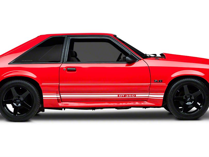 White Rocker Stripes w/ GT350 (79-93 All)