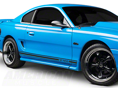 Matte Black Rocker Stripes w/ GT500 (94-04 All)