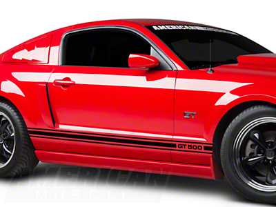 Black Rocker Stripes w/ GT500 (05-14 All)