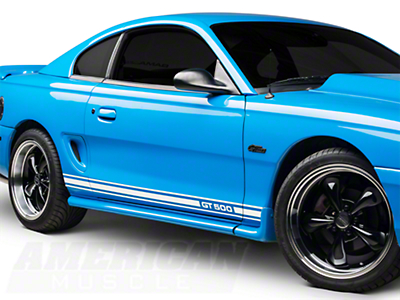White Rocker Stripes w/ GT500 (94-04 All)