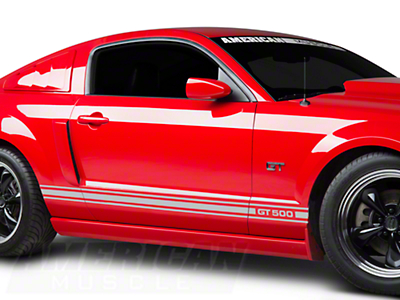 Silver Rocker Stripes w/ GT500 (05-14 All)
