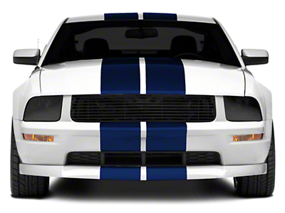Blue GT500 Style Stripes - 10in (05-14 All)