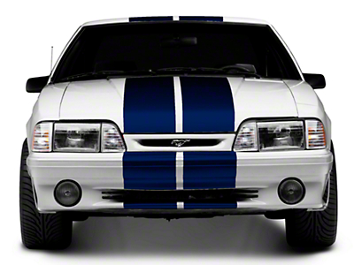 Blue GT500 Style Stripes - 10in (79-93 All)