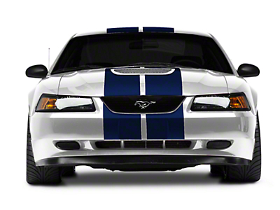Blue GT500 Style Stripes - 10in (94-04 All)