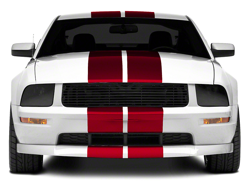 Red GT500 Style Stripes - 10 in. (05-14 All)