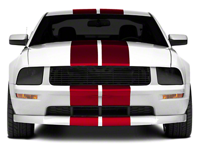 Red GT500 Style Stripes - 10in (05-14 All)