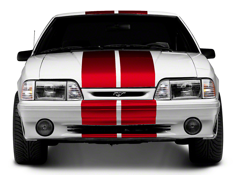 Red GT500 Style Stripes - 10 in. (79-93 All)