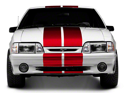 Red GT500 Style Stripes - 10in (79-93 All)