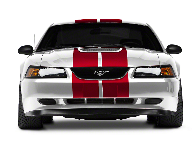 Red GT500 Style Stripes - 10 in. (94-04 All)