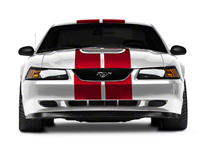 Red GT500 Style Stripes - 10in (94-04 All)