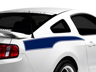 Blue Rear Side Stripe Decal (10-14 All)