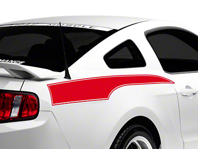 Red Rear Side Stripe Decal (10-14 All)
