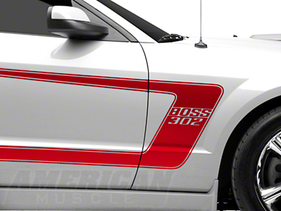 Red Boss C-Style Side Stripe w/ Lettering (05-14 All)