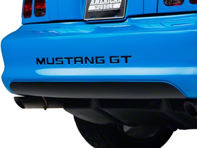Matte Black Lower Rear Valance Decal (94-98 GT, V6, Cobra)
