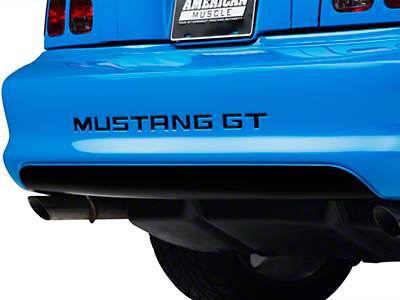 Gloss Black Lower Rear Valance Decal (94-98 GT, V6, Cobra)