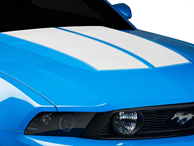 White Dual Hood Stripe (10-12 All)