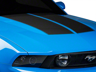 Matte Black Dual Hood Stripe (10-12 All)