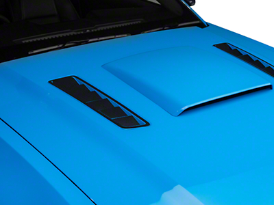 Hood Vent Accent Decal - Carbon Fiber (13-14 All)