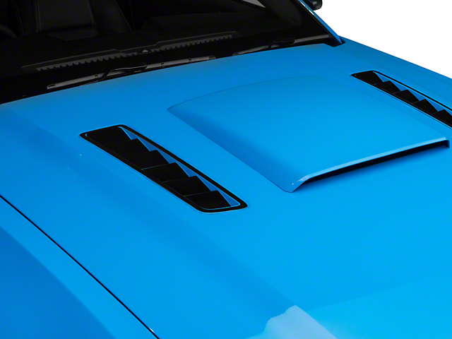 Hood Vent Accent Decal - Black (13-14 All)