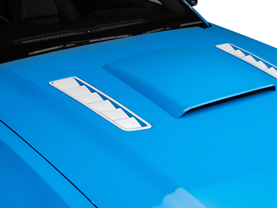 Hood Vent Accent Decal - White (13-14 All)