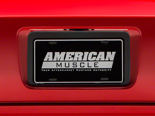License Plate Insert - Matte Black (05-09 All)
