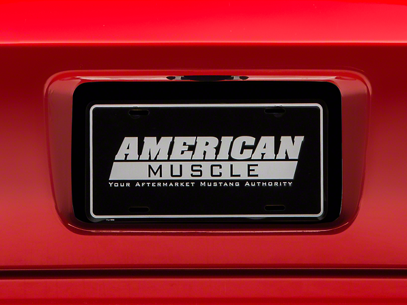 License Plate Insert - Black (05-09 All)