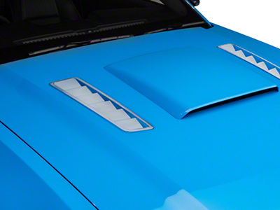 Hood Vent Accent Decal - Chrome (13-14 All)