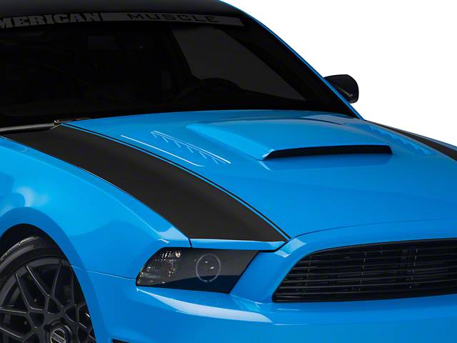 Matte Black Outer Hood Stripes (13-14 All)