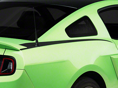 Matte Black Quarter Panel Accent Decal - Coupe (10-14 All)