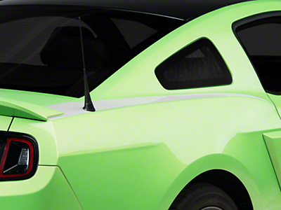 White Quarter Panel Accent Decal - Coupe (10-14 All)