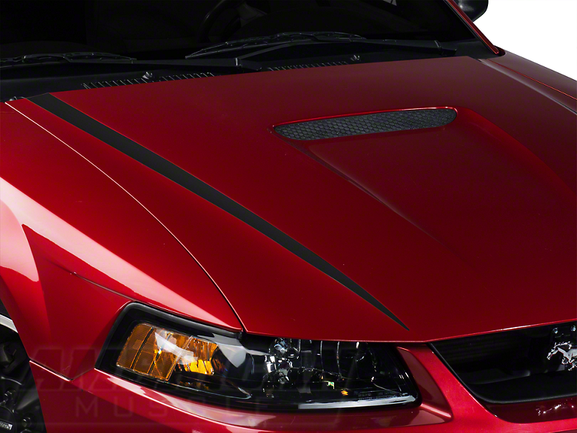 Matte Black Hood Accent Decal (99-04 GT; 99-02 V6)