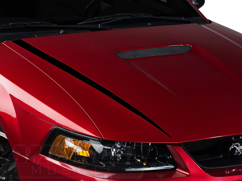 Black Hood Accent Decal (99-04 GT; 99-02 V6)