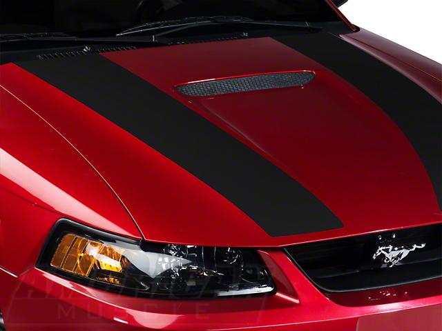 Matte Black Inner Hood Stripes (99-04 GT; 99-02 V6)