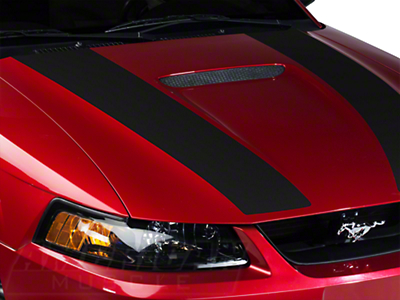 Matte Black Inner Hood Stripes (99-04 GT; 99-02 V6)