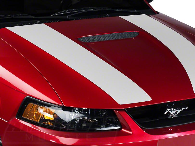 White Inner Hood Stripes (99-04 GT; 99-02 V6)