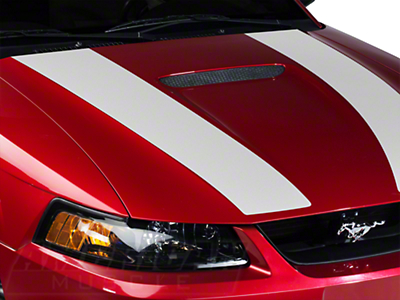 White Inner Hood Stripes (99-04 GT; 99-02 V6)