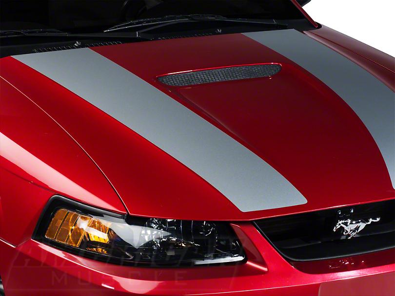 Silver Inner Hood Stripes (99-04 GT; 99-02 V6)
