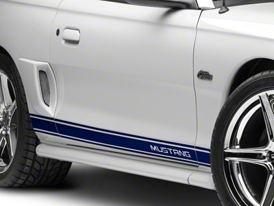 Blue Rocker Stripes w/ Mustang Lettering (94-04 All)