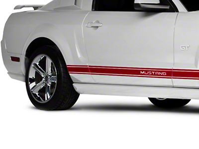Red Rocker Stripes w/ Mustang Lettering (05-14 All)