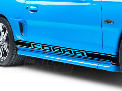 Black Rocker Stripes w/ Cobra Lettering (79-14 All)