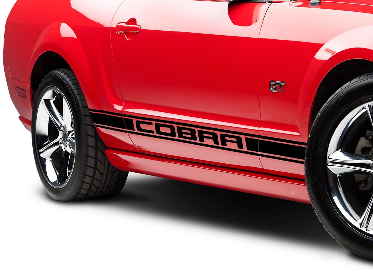 Black Rocker Stripes w/ Cobra Lettering (05-14 All)