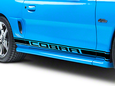 Black Rocker Stripes w/ Cobra Lettering (94-04 All)