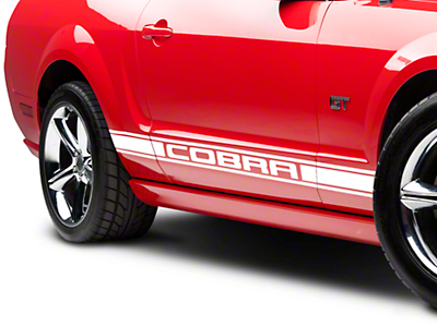 White Rocker Stripes w/ Cobra Lettering (05-14 All)