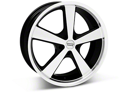 Black Machined American Racing Nova Wheel 18x9 (05-14 GT, V6)