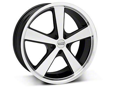 Black Machined American Racing Nova Wheel - 20x8.5 (05-14 GT, V6)
