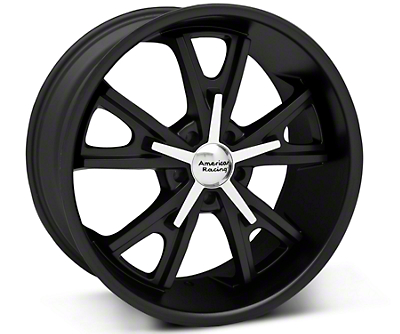 American Racing Matte Black Daytona Wheel - 20x9.5 (05-14 GT, V6)