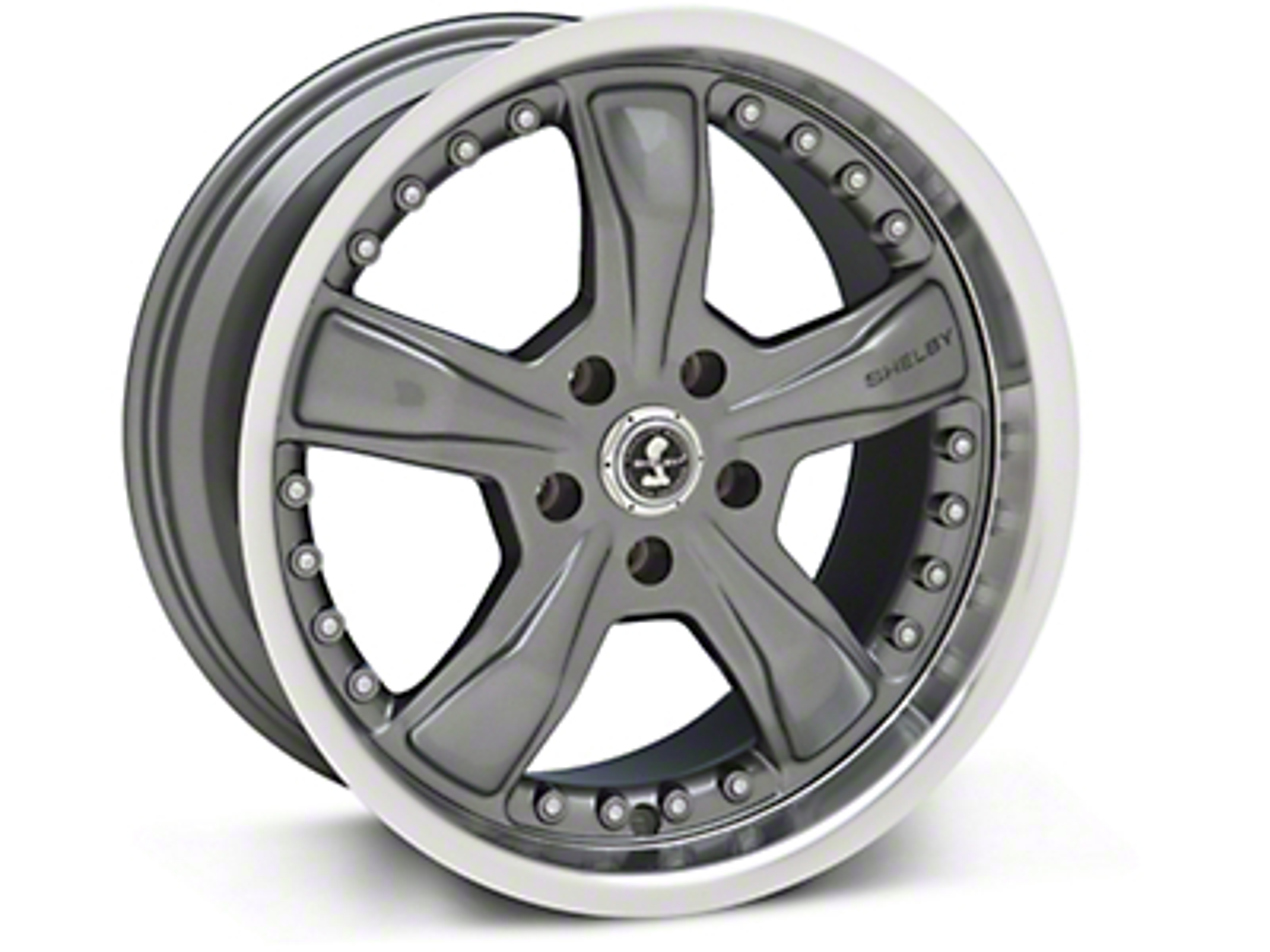 Shelby Razor Gunmetal Wheel - 18x9 (94-04 All)