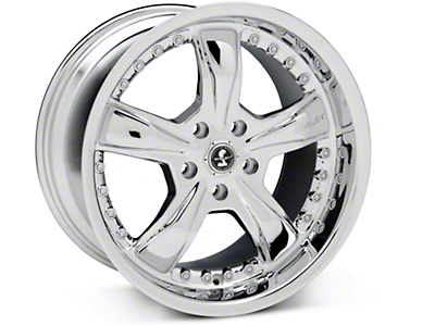 Chrome Shelby Razor Wheel - 18x10 (05-14 GT, V6)