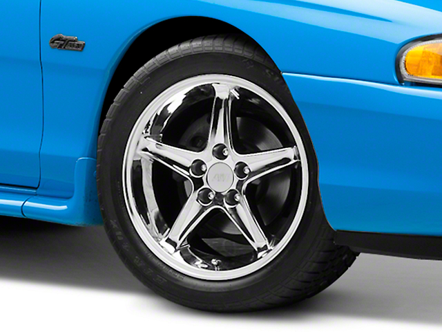 1995 Cobra R Style Chrome Wheel - 17x9 (94-04 All)
