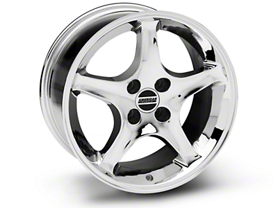 Chrome 1995 Style Cobra R Wheel - 17x9 (87-93; Excludes 93 Cobra)